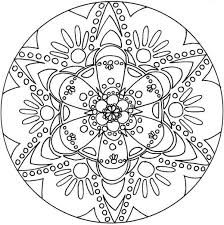 Snowflake Mandala Coloring Pages Free Coloring Page Snowflake