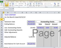 Bank Reconciliation Resume Sample Bank Reconciliation Template 5 Easy Steps To Balance Your