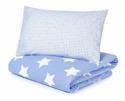 blue stars with gingham duvet set