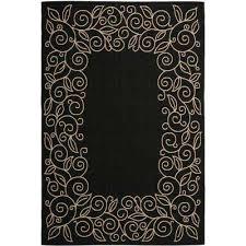 courtyard black beige 4 ft x 6 ft indoor outdoor area rug