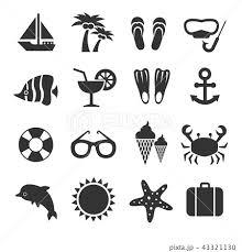 海 ヨット 夏 白黒のイラスト素材 Pixta