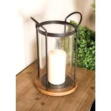 glass cylinder candle holder clear cylindrical with iron frame and large holders replacement
