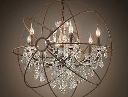 restoration hardware orb chandelier knock off iron and burlap for dining ml rococo restora