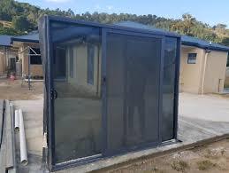 aluminium sliding door 2400 x 2100h and screen