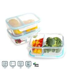 Glass Food Storage Containers With Locking Lids Mesmerizing Glass Food Prep Containers 32 Compartment Glass Meal Prep Containers