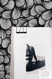 Black Floral Art Deco Wallpaper for ...