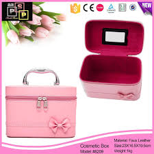china luxury pink cosmetic bags cases makeup kit travel makeup train case box 8209 china cosmetic box makeup box