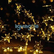 yellow lights outdoor solar string lights warm white star for garden patio lawn party fence