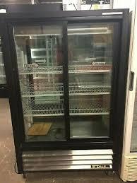 sliding glass door fridge front