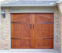 garage doors houstonWood Veneer Garage Doors