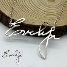 amazon personalized handwriting necklace handwriting jewelry custom signature necklace your actual handwriting 925 sterling silver handmade