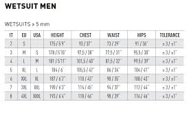 Mares Pioneer 5mm Wetsuit Size Chart 34 Reasonable Mares Wetsuit Sizing Chart