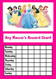 Disney Princess Behavior Chart Disney Princess Star Sticker Reward Chart Reward Chart