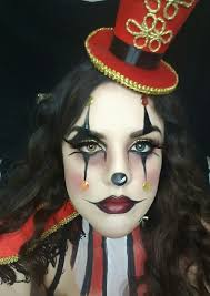 ringmaster makeup tutorial how to clown creepy ideas face paint body paint circus look gold red glitter costume beauty