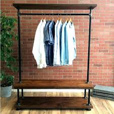 diy wood clothing rack clothes rack wood garment rack clothing rack with shelves industrial pipe clothing