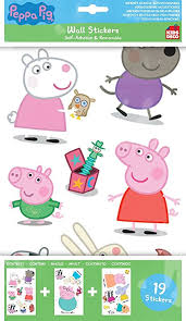 peppa pig wall stickers on peppa pig wall art stickers with peppa pig wall stickers amazon uk kitchen home