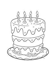 Small Picture Birthday Cake Coloring Page For Kids Birthday Coloring pages of