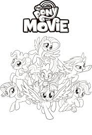 My Little Pony The Movie Coloring Pages Youloveitcom