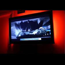 Tv accent lighting Backlight Red Home Theater Led Ligh Lizardleds Red Home Theater Led Lighting Kit 6flexible Led Strips 48inch Tv