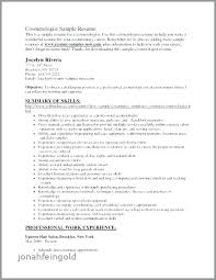Resume For Cosmetology Student Sample Resume For Cosmetologist Cosmetology Resume Sample Recent