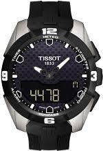 """tissot watches men s ladies tissot watch shop comâ""""¢ mens tissot t touch expert titanium alarm chronograph solar powered watch t0914204705100"""