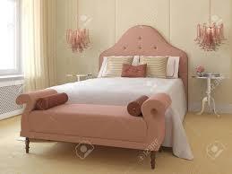 Schöne Schlafzimmer Interieur Für Junge Mädchen 3d Darstellung