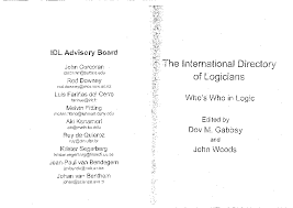 Pdf International Directory Of Logicians Whos Who In Logic