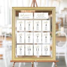 Etsy Table Seating Chart Wedding Seating Chart Template Set Printable Table Seating Plan Editable Templates Instant Download Faux Gold Foil Lovely Calligraphy Lcc