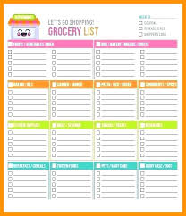 Shopping List Template Excel Unique Spreadsheet Grocery Coupon