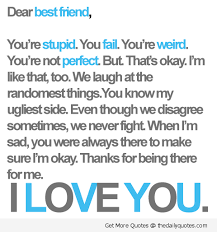I Love My Best Friend Quotes Cool Meri KahaaniMeri Zubaani To MY GF As A BFFI LoVE U My Best