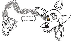 Mangle Coloring Pages Foxy And Nazly Me