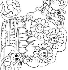 Marvelous Flower Garden Coloring Pages Sensational Comfortable Free
