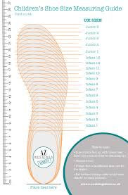Printable Children S Shoe Size Chart Children Printable Shoe Size Guide Print This Pdf To