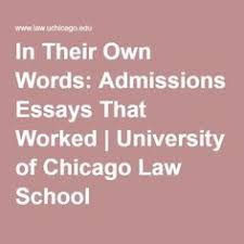 video how to write college admissions essay educational video  in their own words admissions essays that worked university of chicago law school