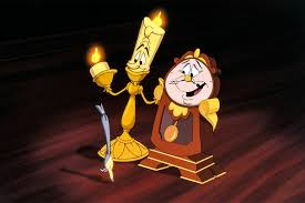 lumiere and cogsworth in beauty and the beast 1991