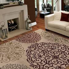 What Size Area Rug For Living Room Orian Rugs Aston White 5 Ft 3 In X 7 Ft 6 In Area Rug 272741