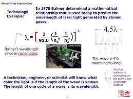 Wavelength Of Laser Light Formula Algebraic Expressions Ppt Download
