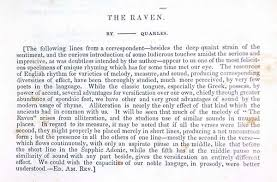 edgar allan poe the raven analysis