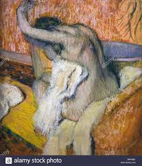 after the bath woman drying herself painted by edgar degas pastel on paper 1895 1900 courtauld institute gallery london