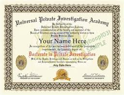 private investigator diploma prop custom your  private investigation academy diploma prop fool your friends certificate looks and feels 100% genuine