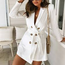 Us 11 71 30 Off Women Ladies Long Sleeve Button Solid Stylish Duster Blazer Jacket Coat 2018 In Trench From Womens Clothing On Aliexpress Com