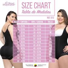 Fajas Colombianas Size Chart Fajas Colombianas Body Shaper Braless With A Sexy Lace Panty Ref 013