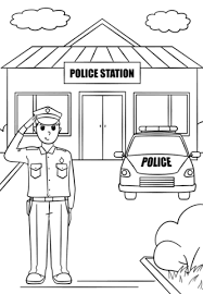 Police Colouring Pages Police Station Coloring Page Free Printable