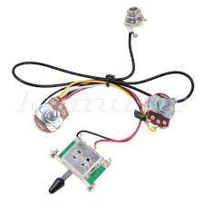 5sets two pickup guitar wiring harness,3 way blade switch 500k custom guitar wiring harness at Guitar Wiring Harness