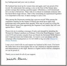 Jill Stanek - Michelle Obama's Partial Birth Abortion Fundraising Letter