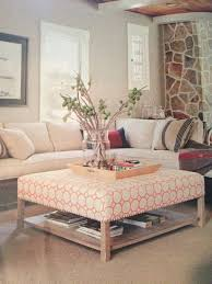 upholstered coffee table with shelf upholstered storage ottoman