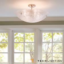 Flush Mount Kitchen Ceiling Light Fixtures Wynter Round Flush Mount Ceiling Light Led Tech Lighting