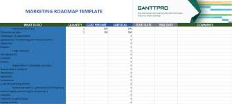 Simple Powerpoint Product Roadmapate Layout Excel Project