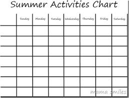 Activity Chart Kids Summer Boredom Busters Kids Activities Chart Mama Smiles