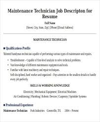 maintenance duties resume maintenance job description resume acepeople co